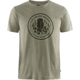Fjällräven Fikapaus Camiseta Hombre, light olive/melange